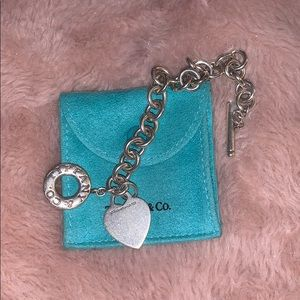 Tiffany&Co. heart charm chain bracelet